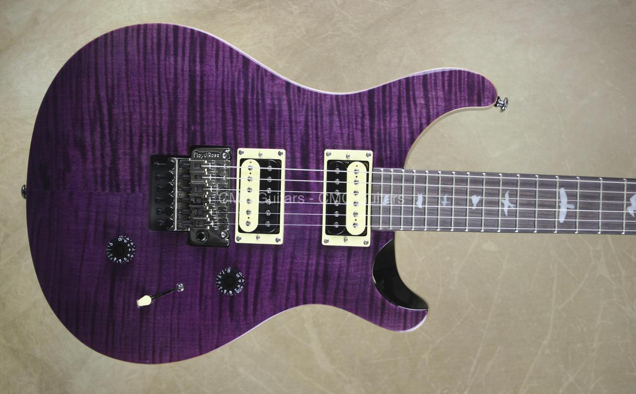 Prs Paul Reed Smith Se Floyd Custom 24 Amethyst Guitar Cmc