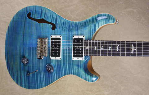 PRS Paul Reed Smith Limited Custom 24 Semi Hollow Body 10 Top Aquableux Guitar