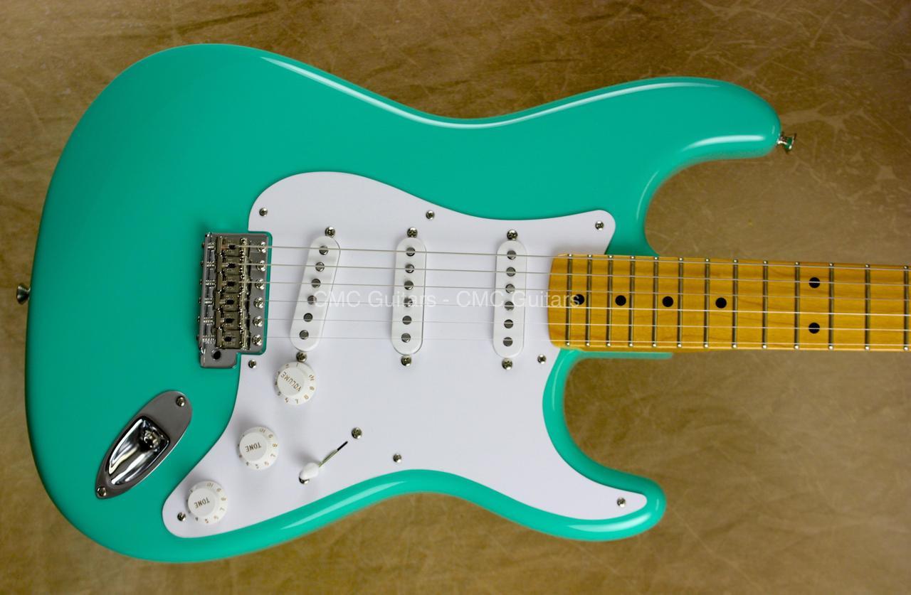 fender custom shop strat nos 57 stratocaster eric clapton v neck sea foam green guitar cmc. Black Bedroom Furniture Sets. Home Design Ideas