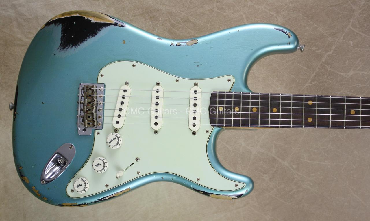 Fender Custom Shop NAMM Strat \'62 Heavy Relic Stratocaster Teal ...