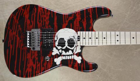 Charvel Pro Mod Warren DeMartini Blood and Skull Guitar