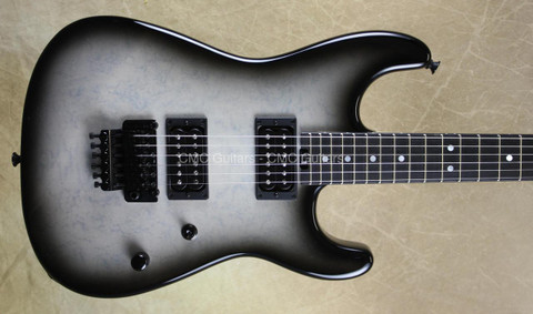 Charvel USA Custom Shop San Dimas Trans White Black Burst Guitar