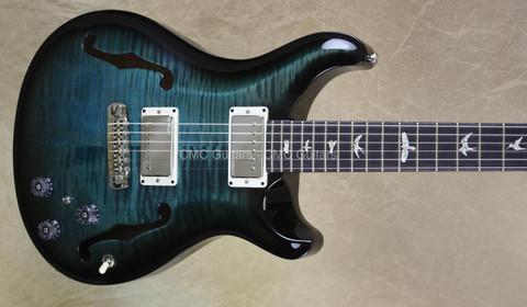 PRS Paul Reed Smith Hollowbody II Aquabluex Smokeburst Wrap Guitar
