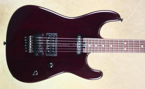 Charvel USA Custom Shop San Dimas Trans Purple Koa NAMM Guitar