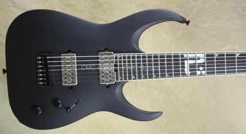 Jackson USA Misha Mansoor Juggernaut HT7 Bulb Matte Black 7 String Guitar