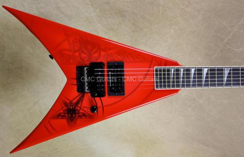 Jackson USA Custom Shop KV2 King V 1 Hum Baphomet Red Guitar