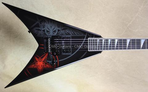 Jackson USA Custom Shop KV2 King V 1 Hum Baphomet Black Guitar