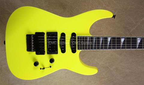 Jackson USA Custom Shop Select SL1 Soloist Neon Yellow Guitar