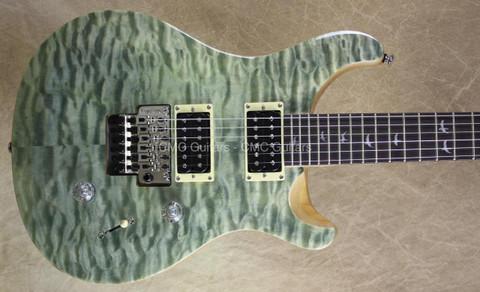 PRS Paul Reed Smith SE Floyd Custom 24 Trampas Green Guitar with FU Tone Big Block