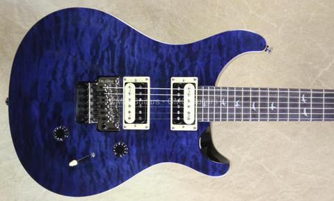PRS Paul Reed Smith SE Floyd Custom 24 Whale Blue Guitar with FU Tone Big Block