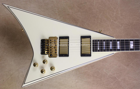Jackson USA Custom Shop Randy Rhoads RR1.5 Vintage White Black Pinstripes