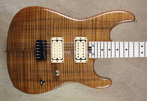 Charvel USA Custom Shop San Dimas Zebra Neck Killer Koa Guitar