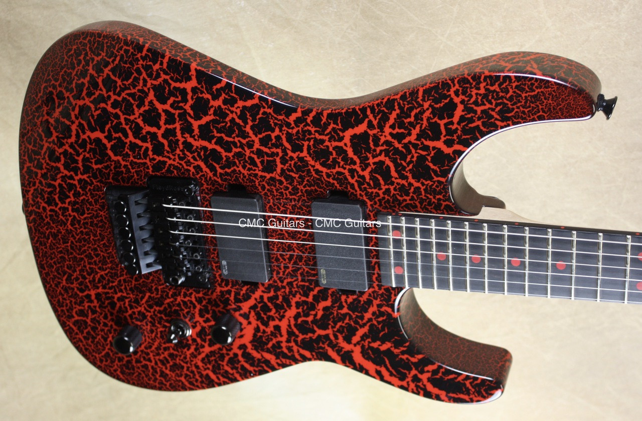 Charvel Usa Custom Shop Dinky Dk Rocket Red Black Crackle Guitar Jackson With Emg Pickup Wiring Larger More Photos
