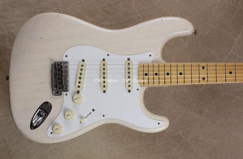Fender Custom Shop '58 Strat Journeyman Relic Stratocaster Aged White Blonde MN Guitar