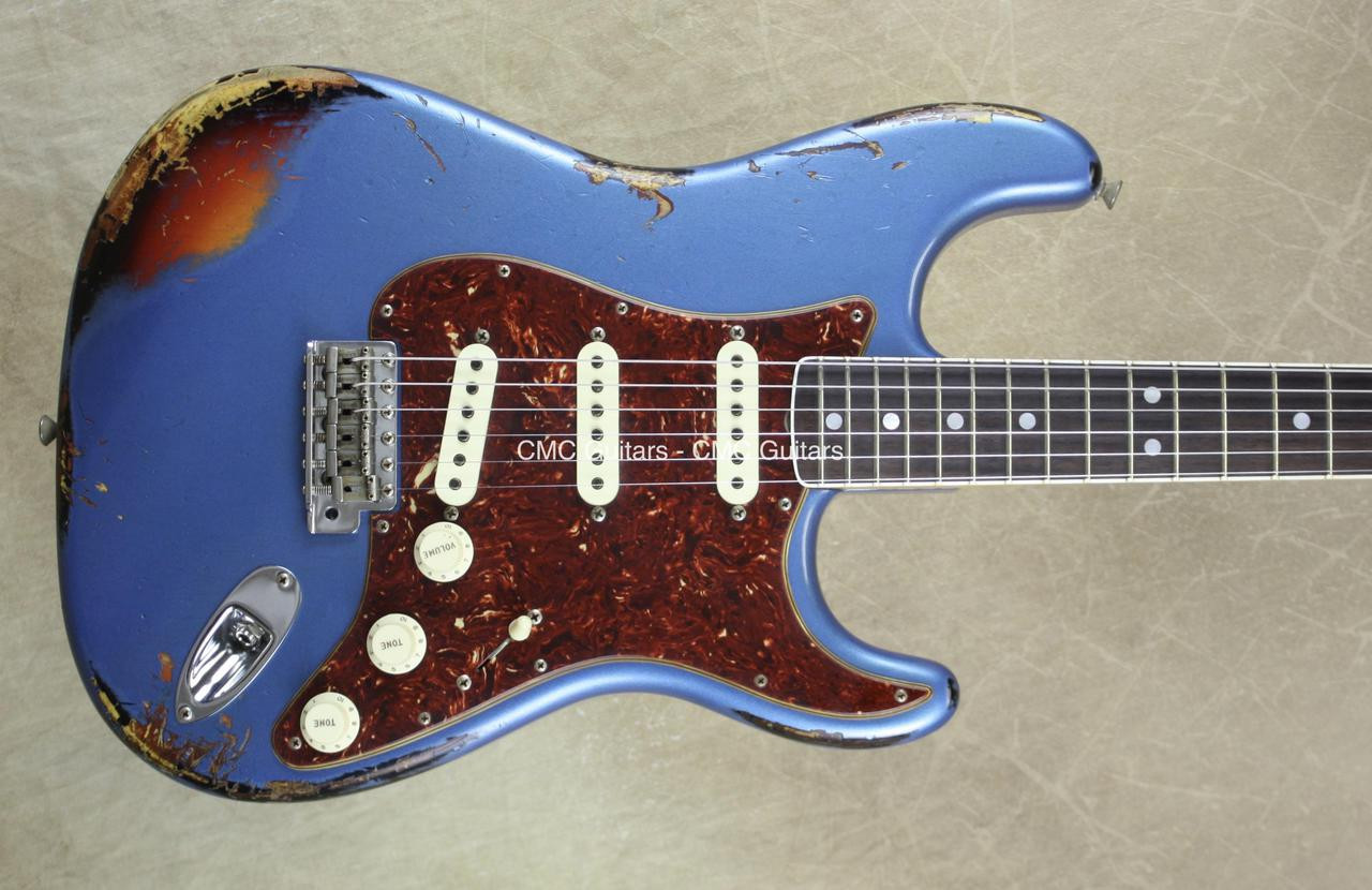 Fender Custom Shop LTD '60 Strat Heavy Relic Stratocaster Bound Neck LPB  over 3TSB
