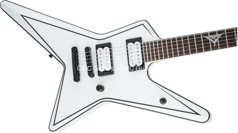 Jackson USA Custom Shop Signature Gus G. Star Satin White Logo Inlay Guitar