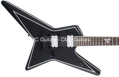 Jackson USA Custom Shop Signature Gus G. Star Satin Black Logo Inlay Guitar
