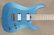 Jackson USA Custom Shop Dinky Archtop HT Matte Blue Frost NAMM Guitar