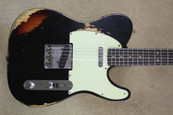 Fender Custom Shop 60's Relic LTD Edition NAMM Telecaster Black Over 3 TSB Tele Guitar