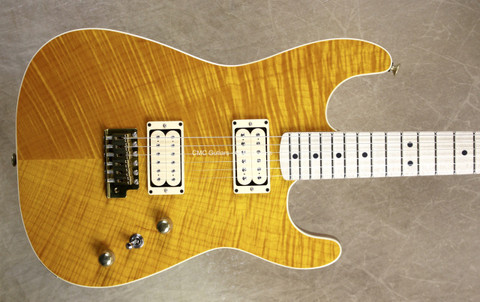 Charvel USA Custom Shop San Dimas Slab Flat Top Trans Amber Guitar