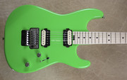 Charvel Pro Mod San Dimas Style Slime Green Guitar with FU Tone Big Brass Block