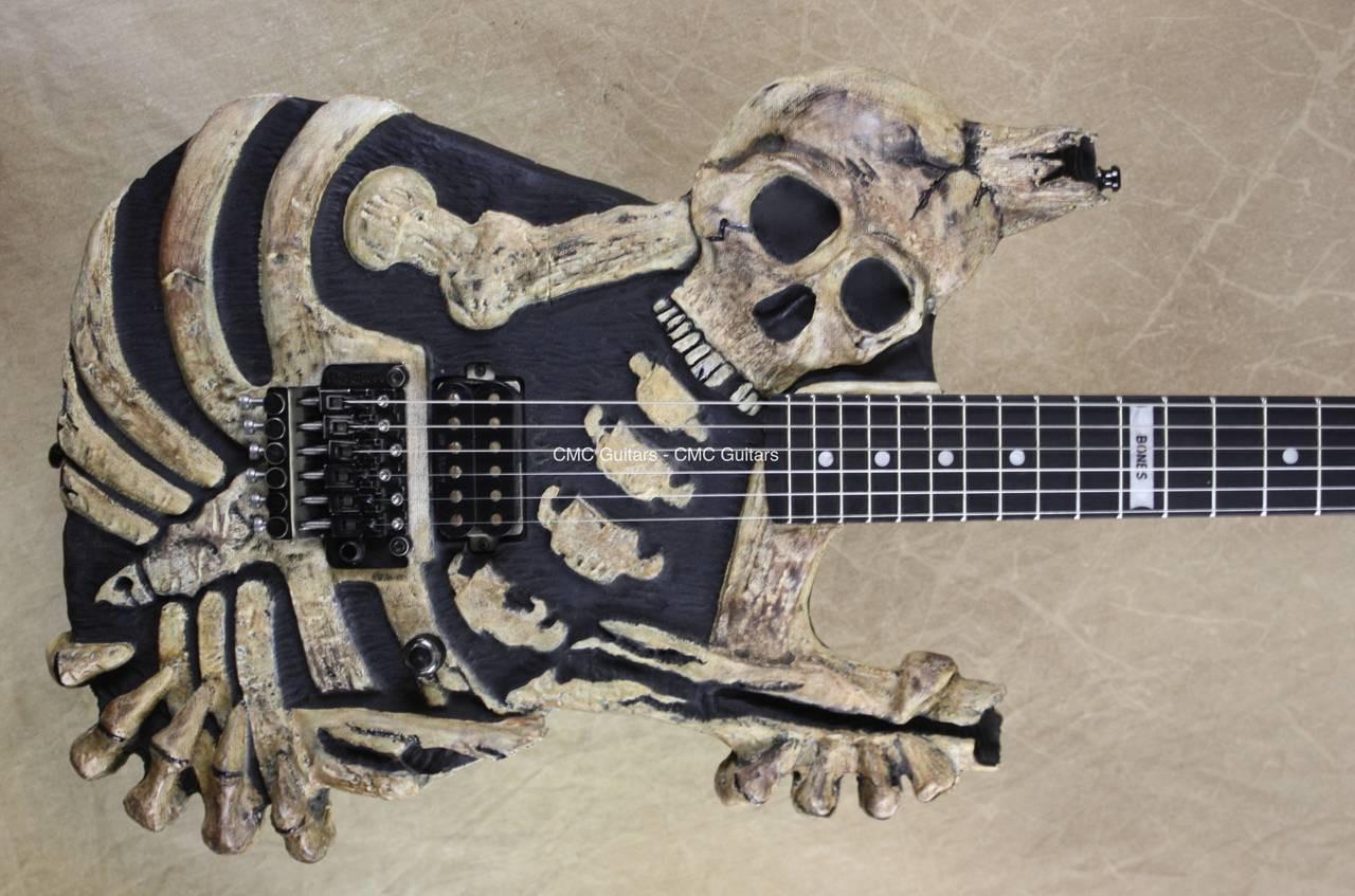 mr scary guitars george lynch made dem bones guitar cmc custom metal classic guitars. Black Bedroom Furniture Sets. Home Design Ideas