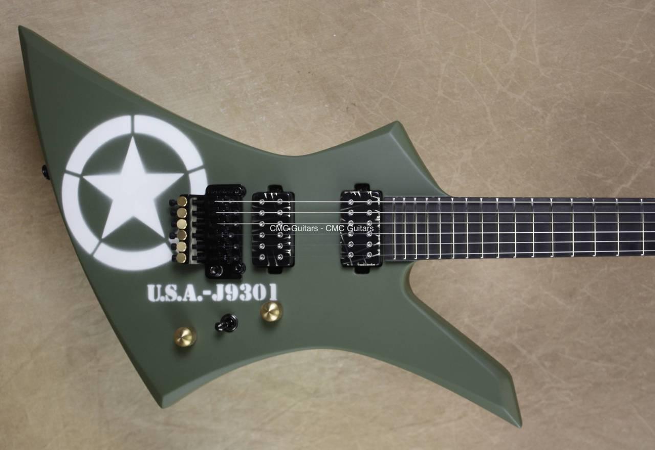 b159b87e Jackson USA Custom Shop KE2 Kelly Battle Tested Guitar - CMC Custom ...