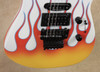 Jackson USA Custom Shop SL1 Soloist Hot Rod Flames Snow White Guitar