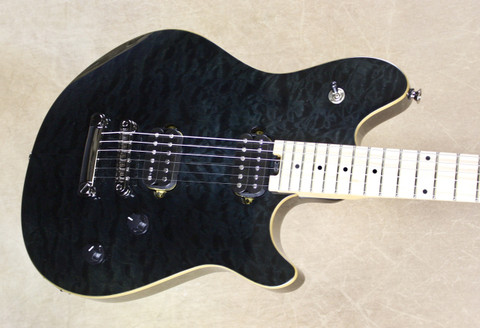 EVH Wolfgang Standard HT Hard Tail Quilted Maple Trans Black Guitar