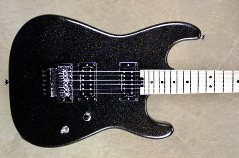 Charvel USA Custom Shop San Dimas 2H Holoflake Black Guitar