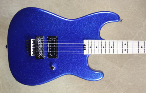 Charvel USA Custom Shop San Dimas 1H Blue Sparkle Guitar