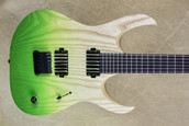 Mayones Duvell Q 6 String John Browne Signature 2018 NAMM Show Model Summer Moss
