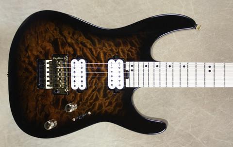 Charvel Pro Mod Dinky DK24 FR M QM Rootbeer Burst Guitar