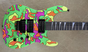 Jackson USA Custom Shop SL2H Craig Fraser Neon Camo NAMM 2018 Guitar