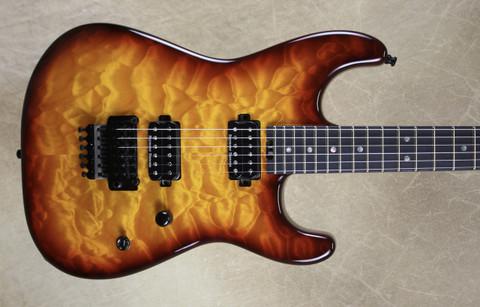 Charvel USA San Dimas Custom Shop 2H Tobacco Burst Guitar