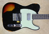 Fender Custom Shop Tele 2018 LTD Reverse Custom HS Heavy Relic Telecaster Black