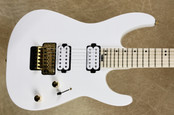 Charvel Pro Mod DK24 FR M Snow White Guitar with FU Tone Big Brass Block