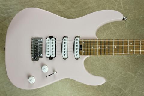 Charvel Pro Mod DK24 HSS 2PT CM Caramelized Maple Fingerboard Satin Shell Pink