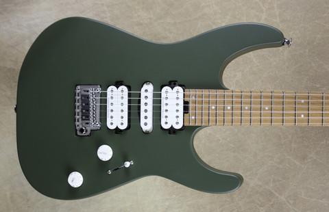 Charvel Pro Mod DK24 HSH 2PT CM Caramelized Maple Fingerboard Matte Army Drab Green