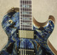 Dean USA Thoroughbred Buckeye Burl Blue Marble Finish Guitar
