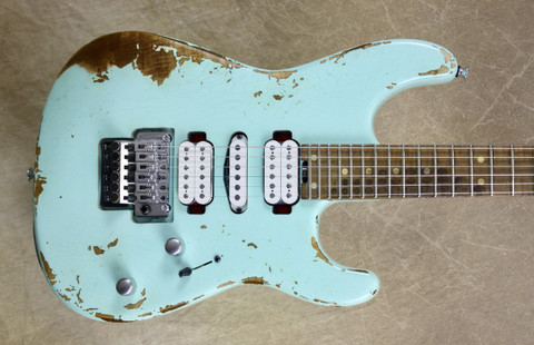 Charvel USA Custom Shop Special Edition San Dimas HSH Relic Surf Green Guitar