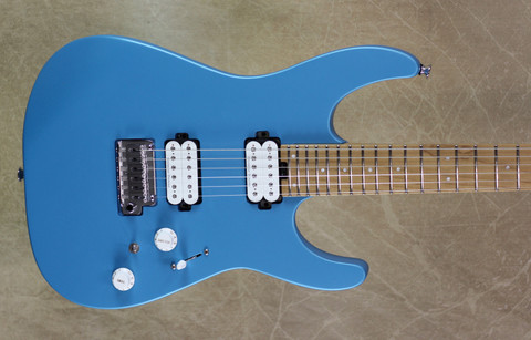 Charvel Pro Mod DK24 2H 2PT CM Caramelized Maple Fingerboard Matte Blue Frost