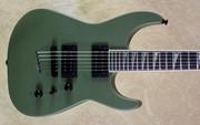Jackson USA Custom Shop SL2HT Mahogany Soloist Matte Army Drab Green