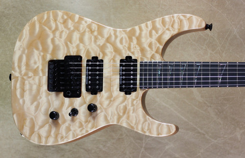 Jackson USA Custom Shop SL2H-MAHQ Soloist Natural Guitar
