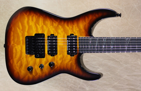 Jackson USA Custom Shop SL2H-MAHQ Soloist Tobacoo Burst Guitar