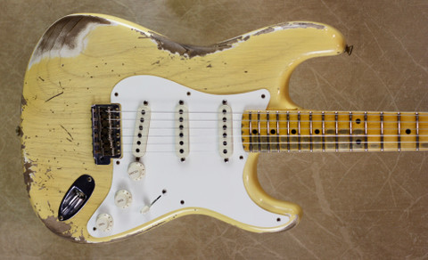 Fender Custom Shop '57 Strat Heavy Relic Stratocaster Nocaster Blonde Guitar