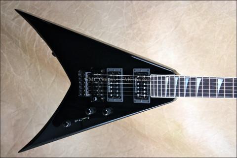 Jackson USA KV2 King V Black Guitar w/ FU Tone Floyd Upgrades