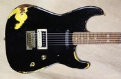 Charvel Custom Shop San Dimas HS Nitro Aged Roasted Alder Black