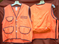 Jim-Gem Pro 10-Pocket Field Vest- Orange