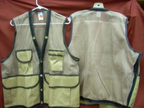 Jim-Gem 8-Pocket Cordura Nylon Mesh Cruiser Vest- Tan